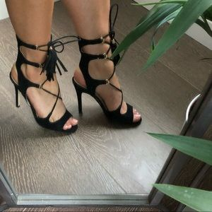 Marc Fisher   Lace up heels with tassels